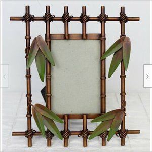 """Metal Bamboo 3D Photo Picture Frame Jungle 3 x 5"""""""